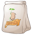 A pack of plant seeds vector