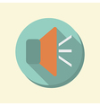 Flat circle web icon loudspeaker vector
