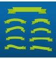 Green ribbons set vector