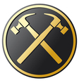 Crossed hammer symbol vector