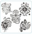 Easter design - set floral symbols vector