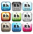 Element rhodium vector