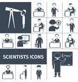 Scientist icons black vector
