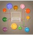 Colorful web design template vector