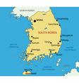Republic of korea - map vector