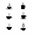 Set of tea cup vector