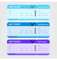 Three classes boarding pass blue tint vector