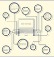 Concept laptop design template vector