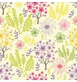 Blossoming trees seamless pattern background vector