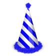 Blue birthday cap vector