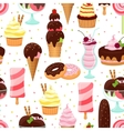 Ice cream and sweets seamless pattern vector