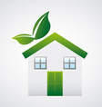 Eco house design vector