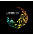 Abstract network connection background vector