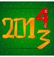 2014 new year card with figures falling down vector
