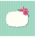 Vintage label with sakura flowers vector