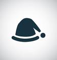 Santas hat icon vector