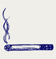 Burning cigarette vector