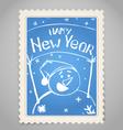 Vintage post stamp vector