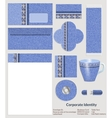 Design of corporate identity denim pattern for the vector