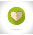 Apple heart icon vector