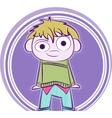 Happy little boy vector