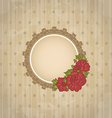 Vintage background with floral medallion and vector