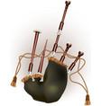 Scottish bagpipe vector
