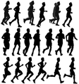 Run silhouette vector