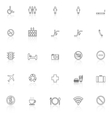 Public line icons with reflect on white background vector