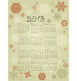 2013 calendar with snowflakes vector