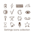 Settings icons collection vector