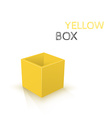 Yellow box isolated on white background vector