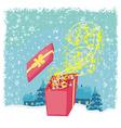 Glowing magic gift box vector