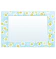 Frame floral vector