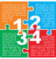 Puzzle with numbers and place for your text vector