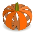 Abstract applique pumpkin on halloween vector