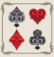 Playing card vintage ornamental vector