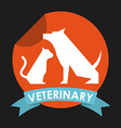 Cat and dog design vector