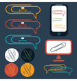 Flat design icons of social office elements vector
