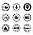 Black retro labels and badges transportation vector