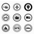 Black retro labels and badges transportation vector
