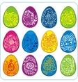 Eggs easter design - set vector