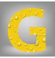 Beer letter g vector