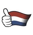 Flag of holland - flag netherlands vector