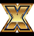 Golden font letter x vector