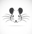 Image of an rat head vector