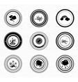 Black retro labels and badges nature vector