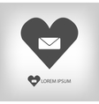 Love mail sign vector