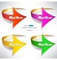 Colorful arrows on white background vector