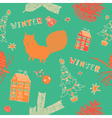 Retro winter christmas pattern vector
